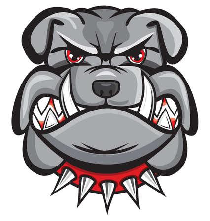 bulldog: Cabeza de bulldog enojado