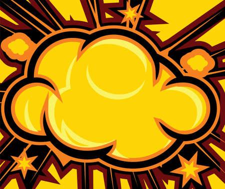 detonated: Explosion  Comic Book Explosion Background  Illustration