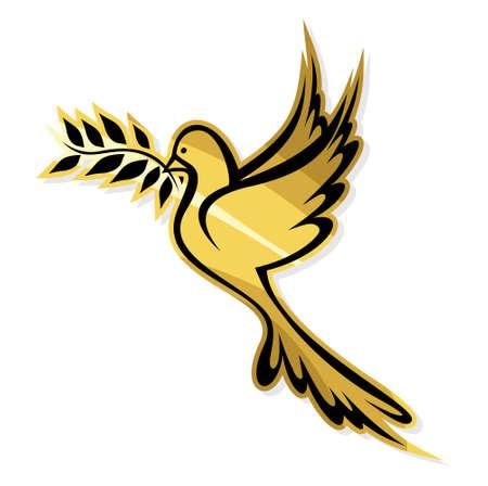 dove bird: Golden Dove of Peace