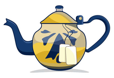 Retro teapot Vector