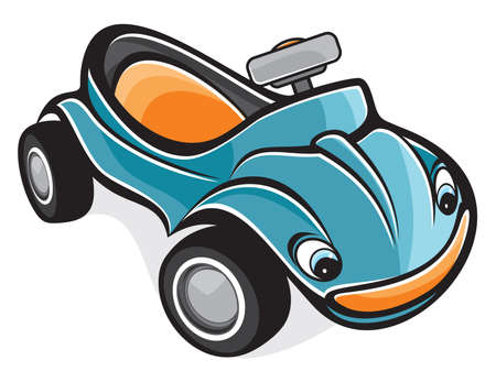 grand kids: cute race car Illustration