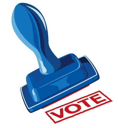 political campaign: Hand and stamp vote