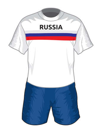 Russia football uniform Vector