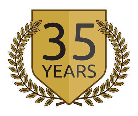 laurel wreath 35 years