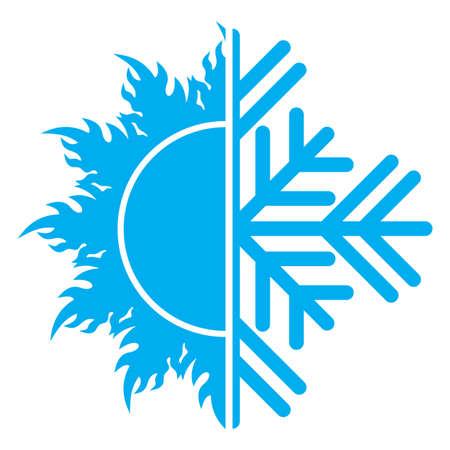 aire acondicionado: aire acondicionado icono Vectores