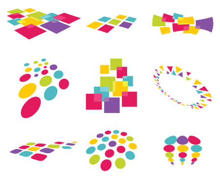 collection of modern abstract design elements Stock Vector - 18009780