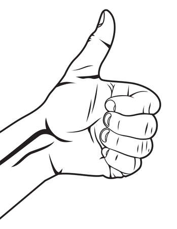 Human hand giving ok  hand showing thumbs up Stock Vector - 18009986