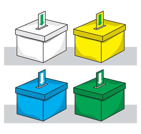 ballot box: election box - ballot box