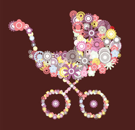 baby carriage Stock Vector - 18009869