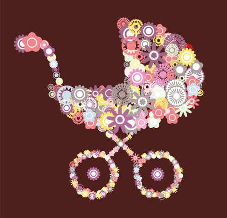 moeder met baby: kinderwagen