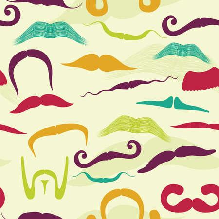 Seamless mustache pattern Stock Vector - 18048195