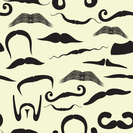 Seamless mustache pattern Stock Vector - 18094303