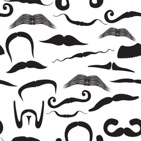 Seamless mustache pattern Stock Vector - 18009804