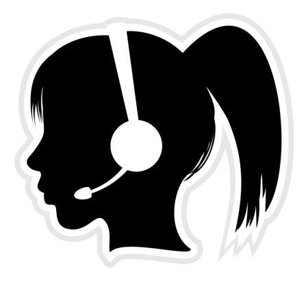 face with headset: call center