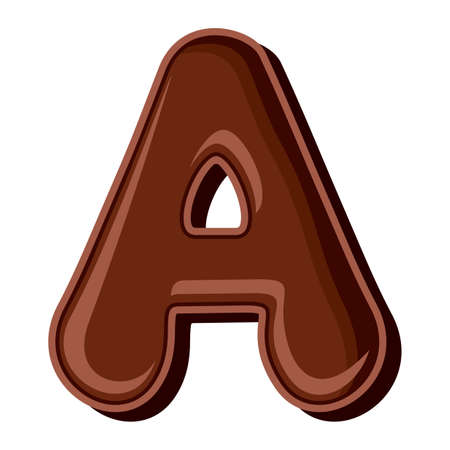 Chocolate letter isolated on white background