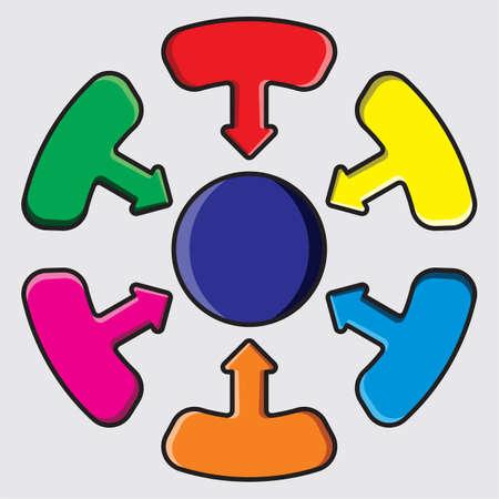 Distribution Circle Illustration Stock Vector - 18010046