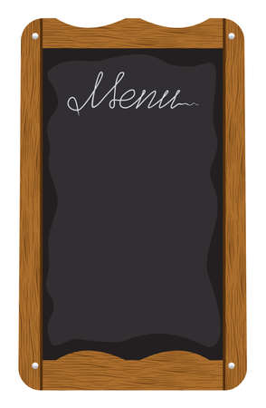 Menu board outside a restaurant or cafe Vector