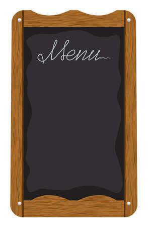 chalk outline: Menu board outside a restaurant or cafe Illustration