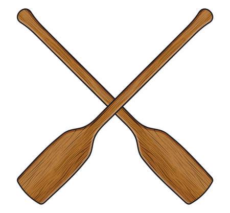 pagaie de canoë en bois