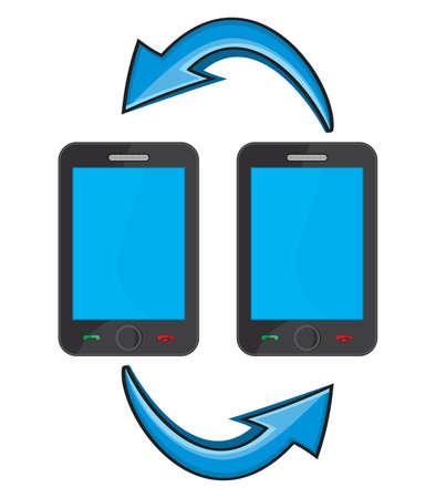 Smart phone communication Stock Vector - 18009970