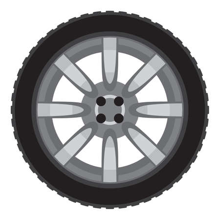 car wheel illustration Stock Vector - 18009941