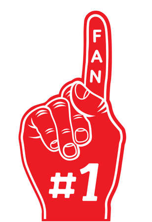 Foam finger - fan finger Stock Vector - 18009848