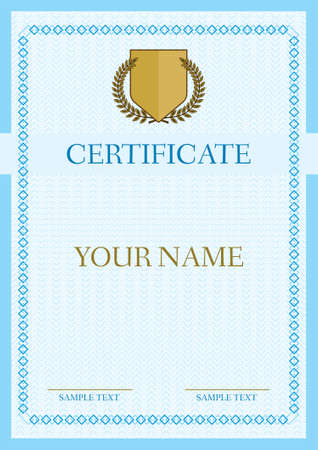 Certificate - Diploma Vector