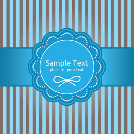 Retro greeting card template design Stock Vector - 18092536
