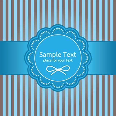 Retro greeting card template design Stock Vector - 18092536