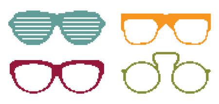 Pixel glasses Stock Vector - 18092308