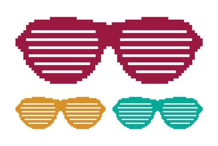 Pixel glasses Stock Vector - 18092305