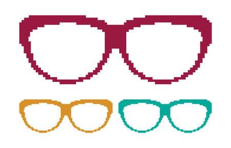 Pixel glasses Stock Vector - 18092306