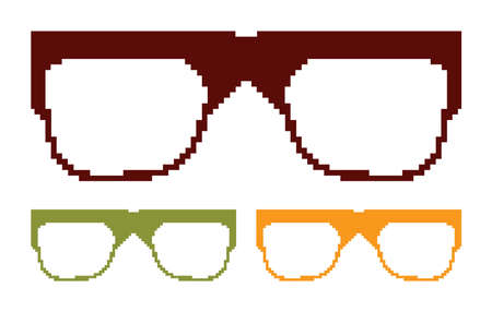 Pixel glasses Stock Vector - 18092530