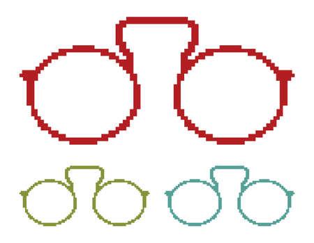 Pixel glasses Stock Vector - 18092531