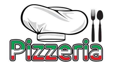 pizzeria label: Pizzeria sign