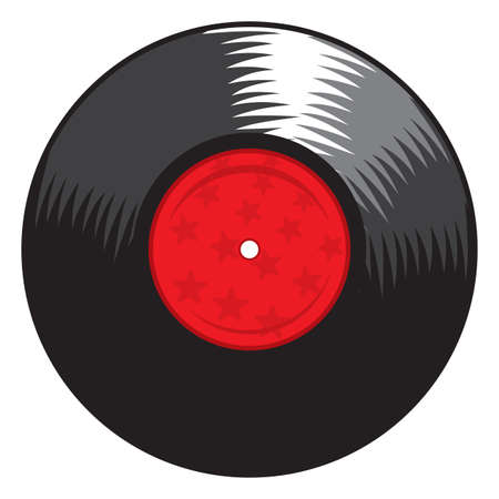 vinyl disk player: vinyl record