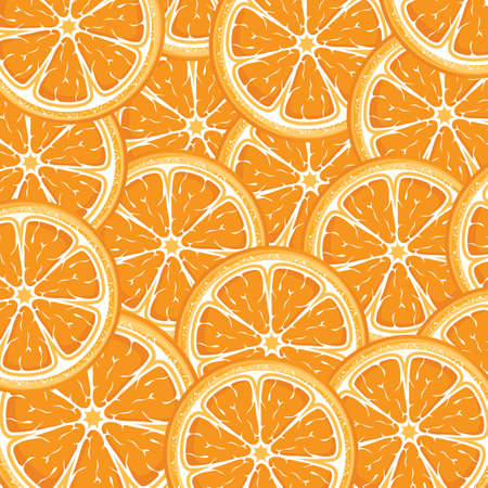 orange background from slices of juicy oranges Vector