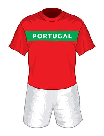Portugal football uniform Vector