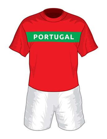 sports uniform: Portugal football uniform Illustration