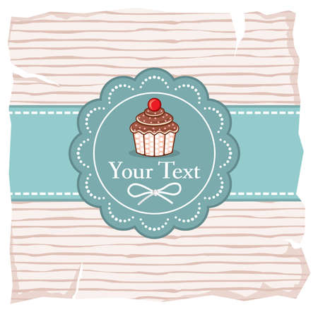 Cute cupcake gift card Stock Vector - 18099124
