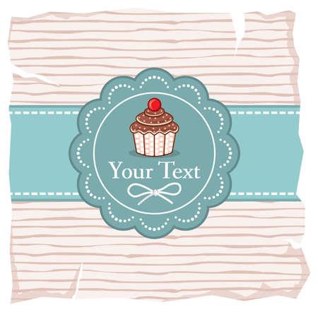 Cute cupcake gift card Stock Vector - 18099124