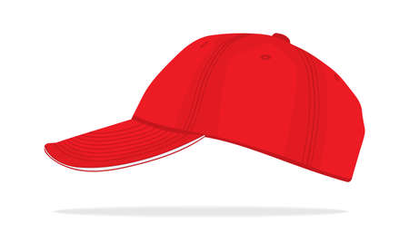 red baseball isolated cap Stock Vector - 18082101