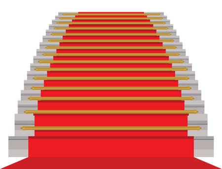 Red carpet - vector illustration Vector