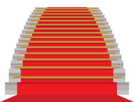 Red carpet - vector illustration Illustration