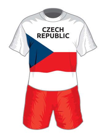 czech republic football uniform Vector