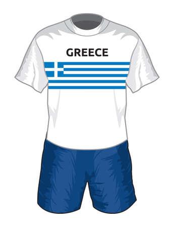 uniforme de futbol: Grecia f�tbol uniforme Vectores