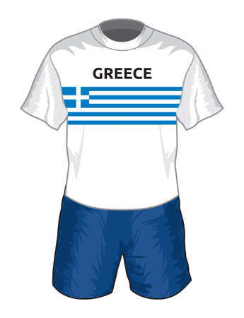 Greece football uniform Vector