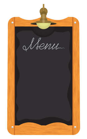 taverns: Menu board outside a restaurant or cafe Illustration