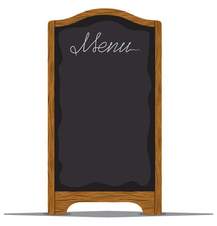 daily: Menu board outside a restaurant or cafe Illustration
