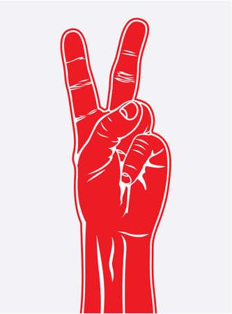 simbolo de la paz: El signo de la victoria, gesto con la mano